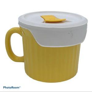 Vintage CorningWare Colors Ceramic Mug with Lid